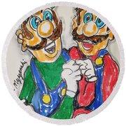 Super Mario Brothers Round Beach Towel