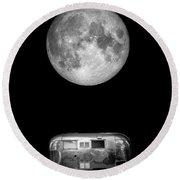 Super Moon Airstream 3 4 Round Beach Towel