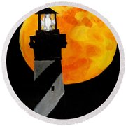 Super Moon Round Beach Towel