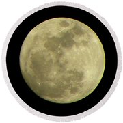 Super Moon March 19 2011 Round Beach Towel