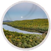Super Moon Rise Sept. 27, 2015 Round Beach Towel