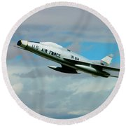 Super Sabre North American F-100  Round Beach Towel