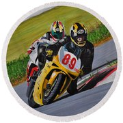 Superbikes Round Beach Towel