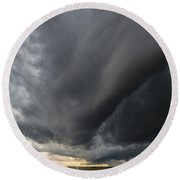 Supercell Overhead Round Beach Towel
