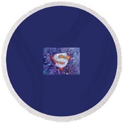 Supergirl Logo  Round Beach Towel