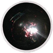 Supernova Round Beach Towel