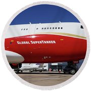 Supertanker At Colorado Springs Round Beach Towel