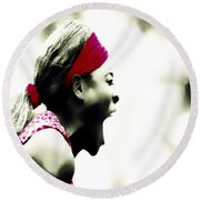 Serena Williams 03c Round Beach Towel