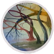 Support And Love Round Beach Towel
