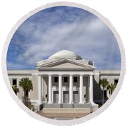 Supreme Courthouse In Tallahassee Florida Round Beach Towel