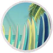 Surfboards Round Beach Towel