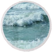 Surf At Duckpool Cornwall Round Beach Towel
