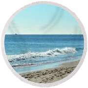 Surf Sounds 2 Round Beach Towel