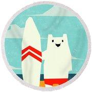 Surf Round Beach Towel
