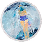 Surface Tension Round Beach Towel