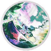 Surfer 2 Round Beach Towel