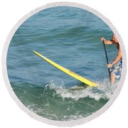 Surfer Dude Round Beach Towel