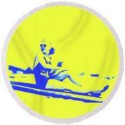 Surfer Girl 1940s Round Beach Towel