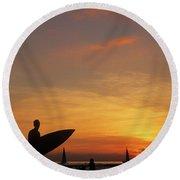 Surfer Round Beach Towel