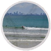 Surfers Paradise  Round Beach Towel