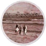 Surfers Three Round Beach Towel
