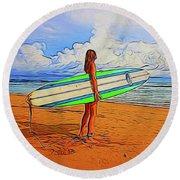 Surfing 19518 Round Beach Towel