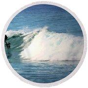 Surfing Asilomar Round Beach Towel