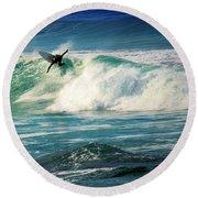 Surfing Asilomar Two Round Beach Towel