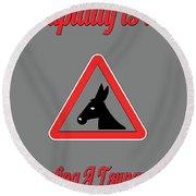 Surfing Bigstock  Donkey 171252860 Round Beach Towel