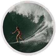 Surfing Hawaii 2 Round Beach Towel
