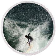 Surfing Hawaii 4 Round Beach Towel