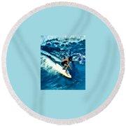 Surfing Legends 12 Round Beach Towel