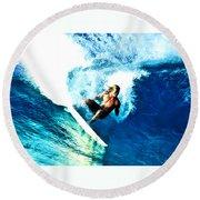 Surfing Legends 9 Round Beach Towel