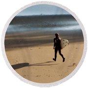 Surfing On Air  Round Beach Towel