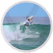 Surfing Panorama Round Beach Towel