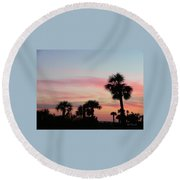 Surfside Sunset Round Beach Towel