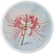 Surprise Lily Round Beach Towel