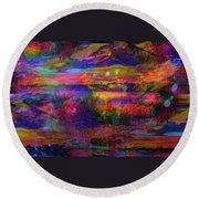 Surreal Angry Cloud Round Beach Towel