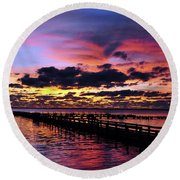 Surreal Beauty Round Beach Towel