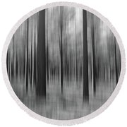 Surreal Forest Abstract. Round Beach Towel