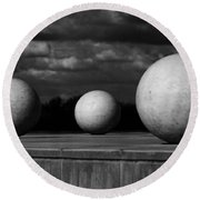 Surreal Globes Round Beach Towel