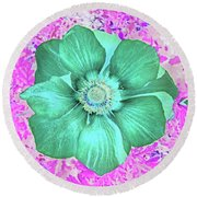 Surreal Poppy  Round Beach Towel
