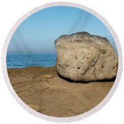 Surreal Rock At Point Loma Round Beach Towel