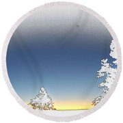 Surreal Sunrise At The Grand Canyon Round Beach Towel