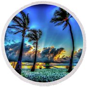 Surreal Sunrise Round Beach Towel