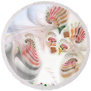 Surrealism Examined Round Beach Towel