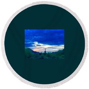 Surrender To Silence Round Beach Towel