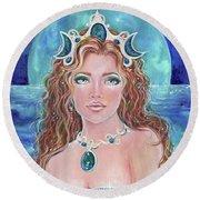 Surrender To The Sea Mermaid Round Beach Towel