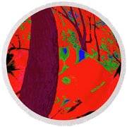 Surrounded 5 Round Beach Towel