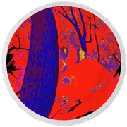 Surrounded 6 Round Beach Towel